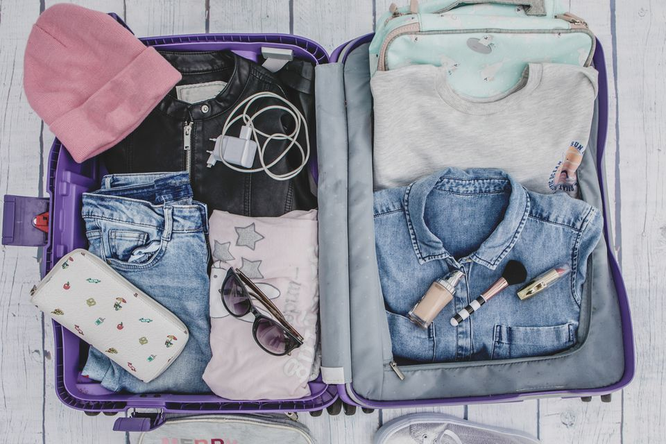 Neatly Packed suitcase