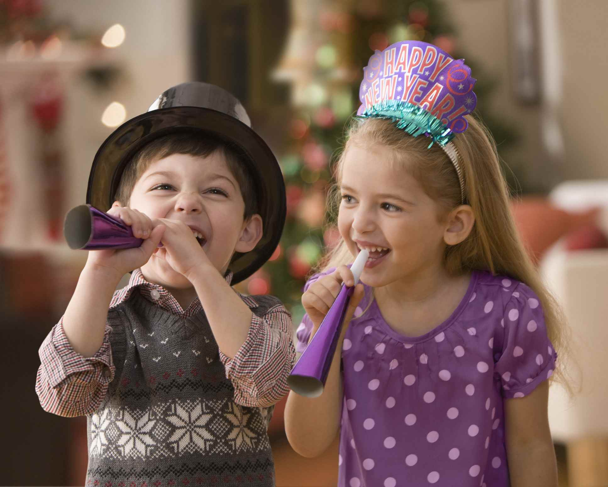 Kids on New Years Eve