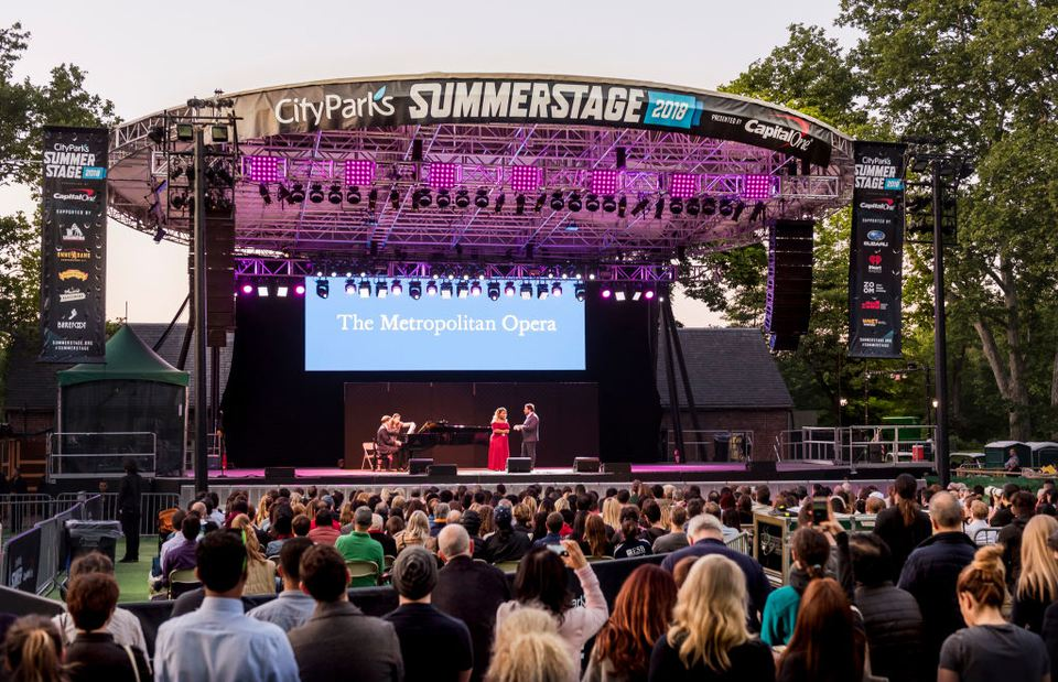 Nueva York Summerstage 2018 actuación de The Metropolitan Opera