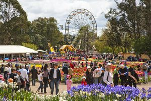 Spring flower display at the Floriade at Commonwealth Park.