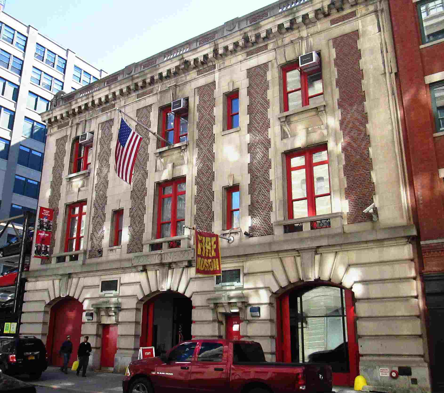 The New York City Fire Museum at 278 Spring Street between Varick and Hudson Streets in the Hudson Square neighborhood of Manhattan, New York City was formerly the firehouse for Engine Company 30.