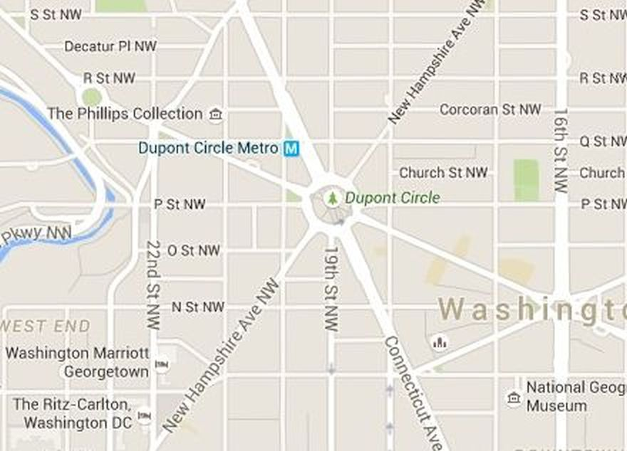 Dupont Circle Map Washington DC