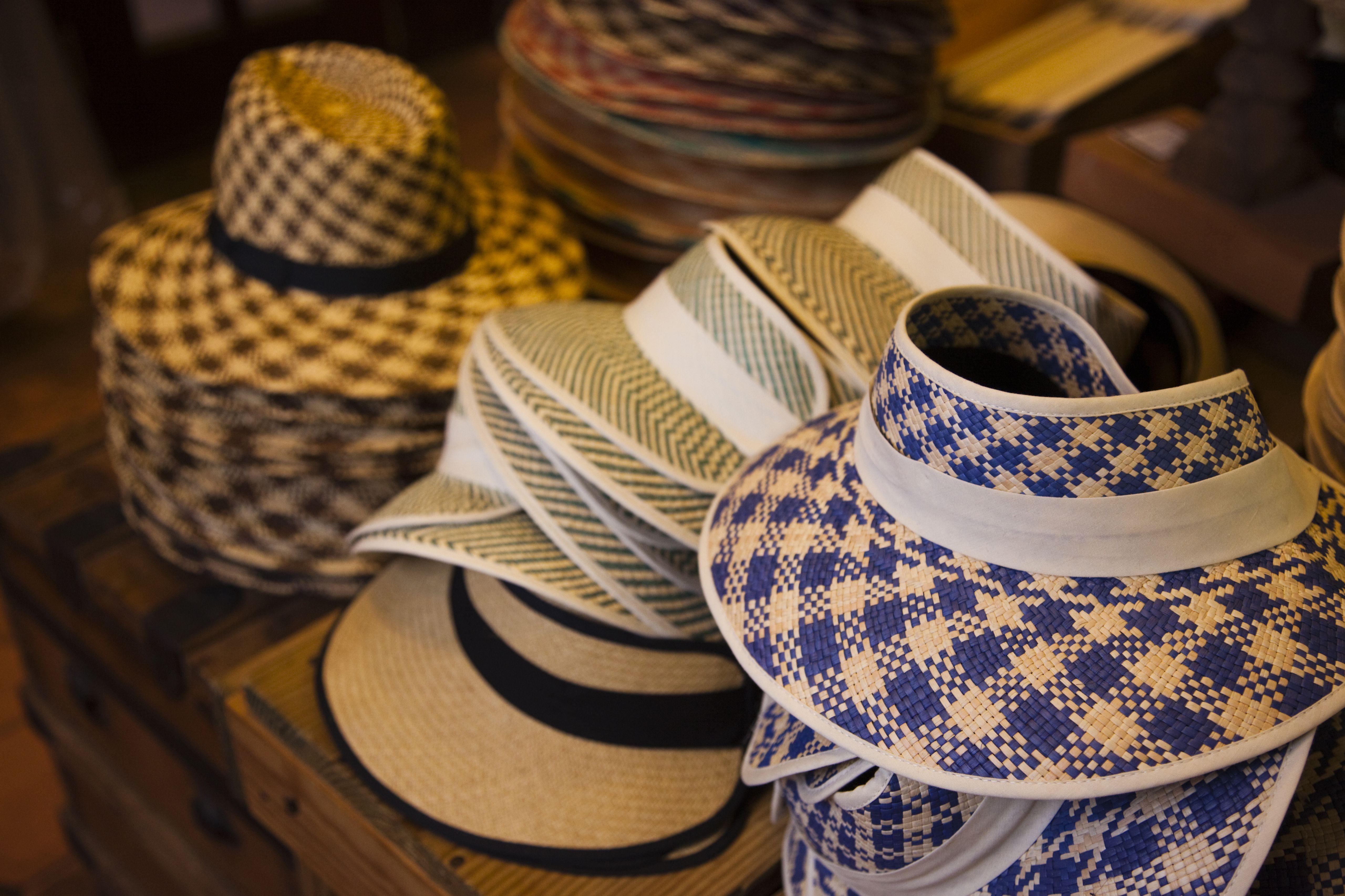 Straw hats for sale, Old San Juan, San Juan, Puerto Rico, December 2009
