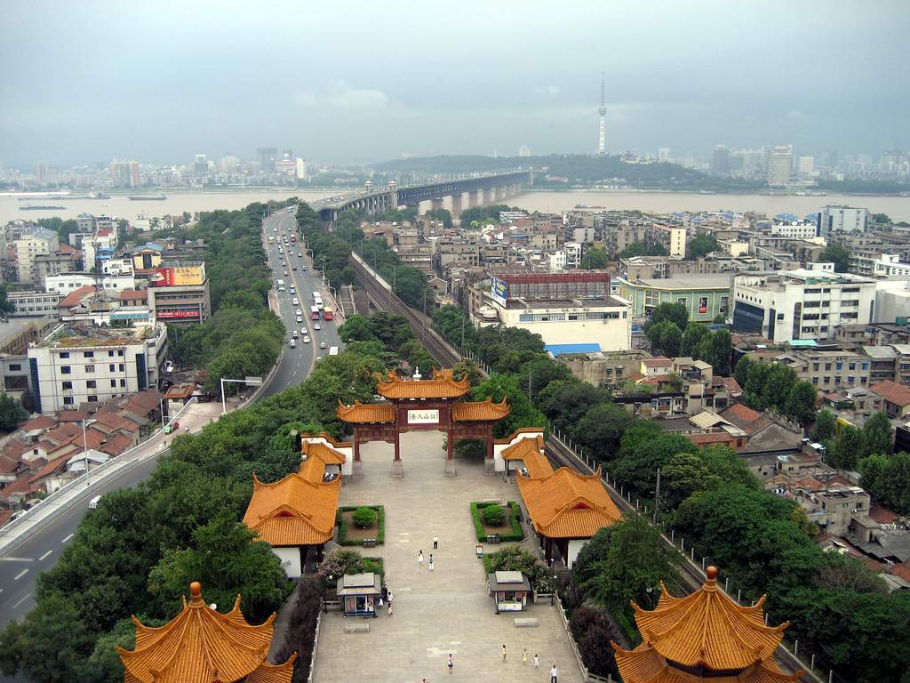 Wuhan as seen from Yellow Crane Tower