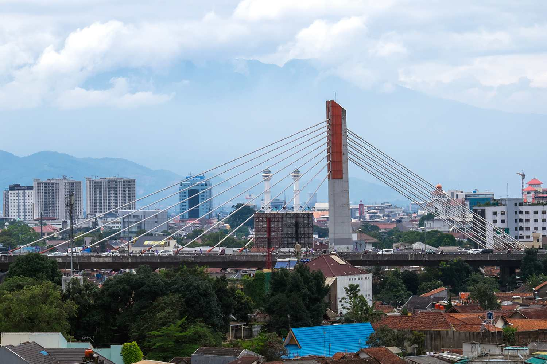 Pasopati Bridge in Bandung, West Java
