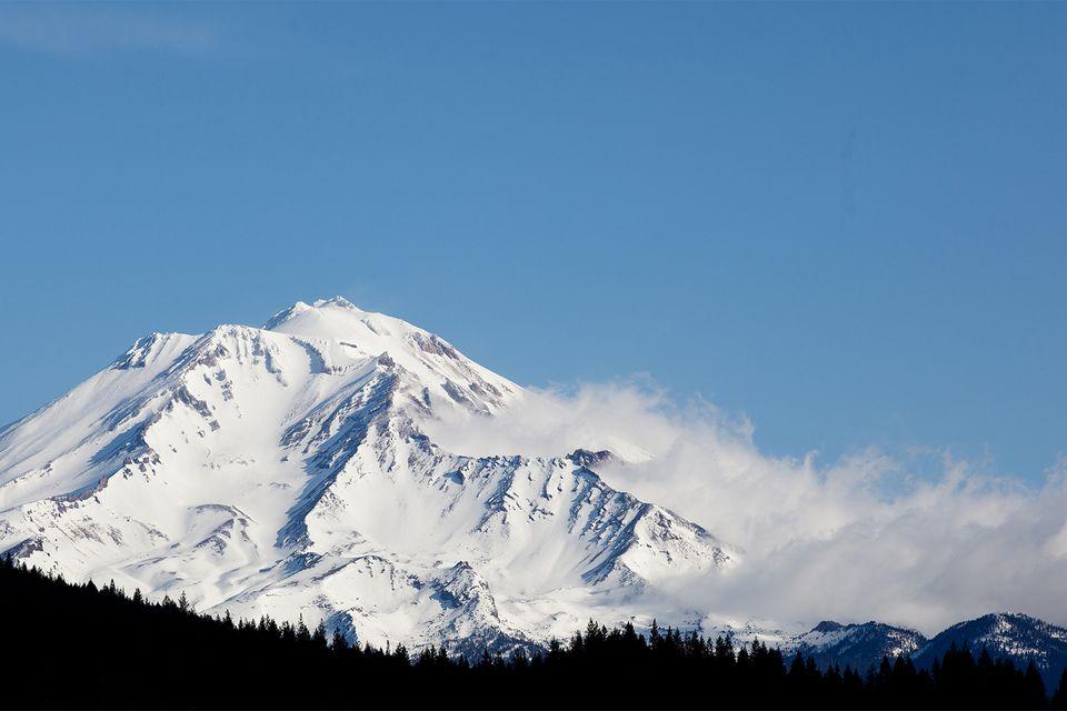 Snow on Mount Shasta