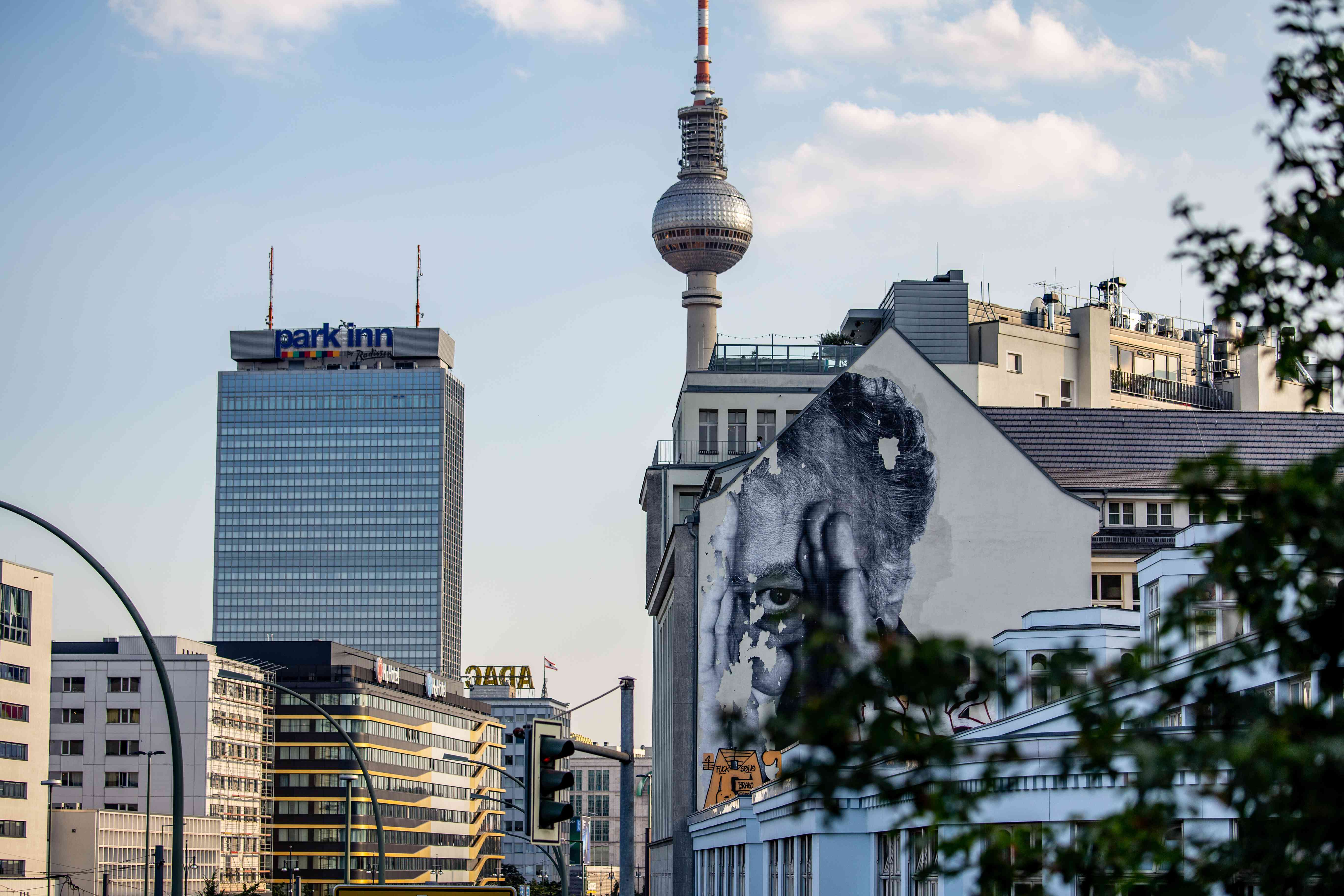 The mural Wrinkles of the city