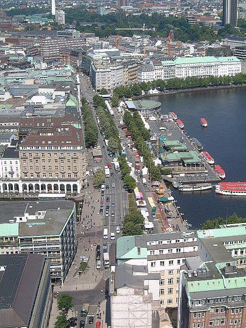 Jungfernstieg, the site of Hamburg Gay Pride