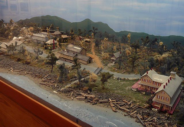 Town Model at the Seaside Historical Society Museum in Seaside Oregon © Angela M. Brown (2010)