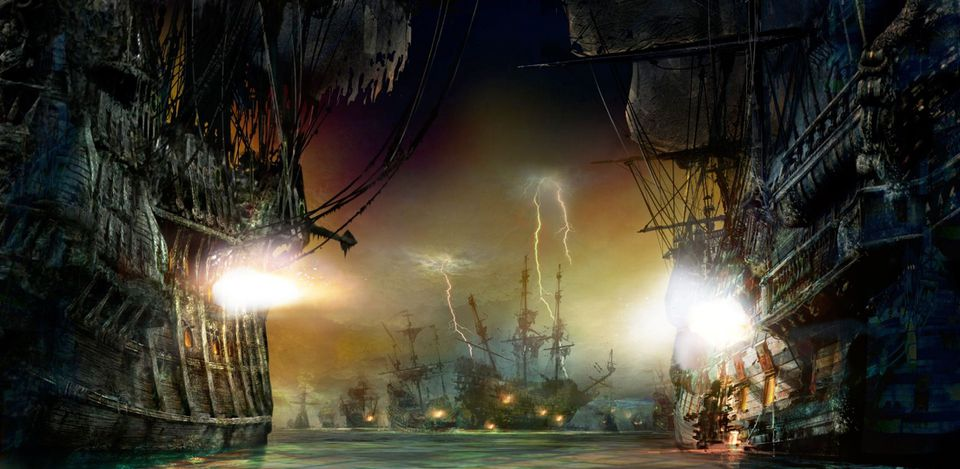 Shanghai Disneyland Pirates ride battle