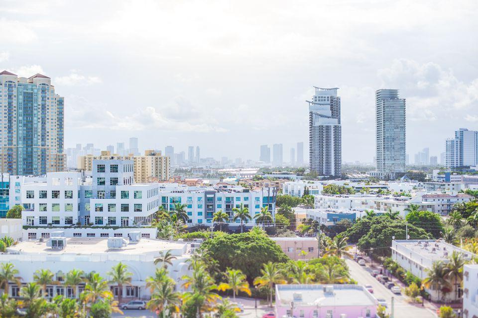 Florida, Miami, Miami beach Skyline