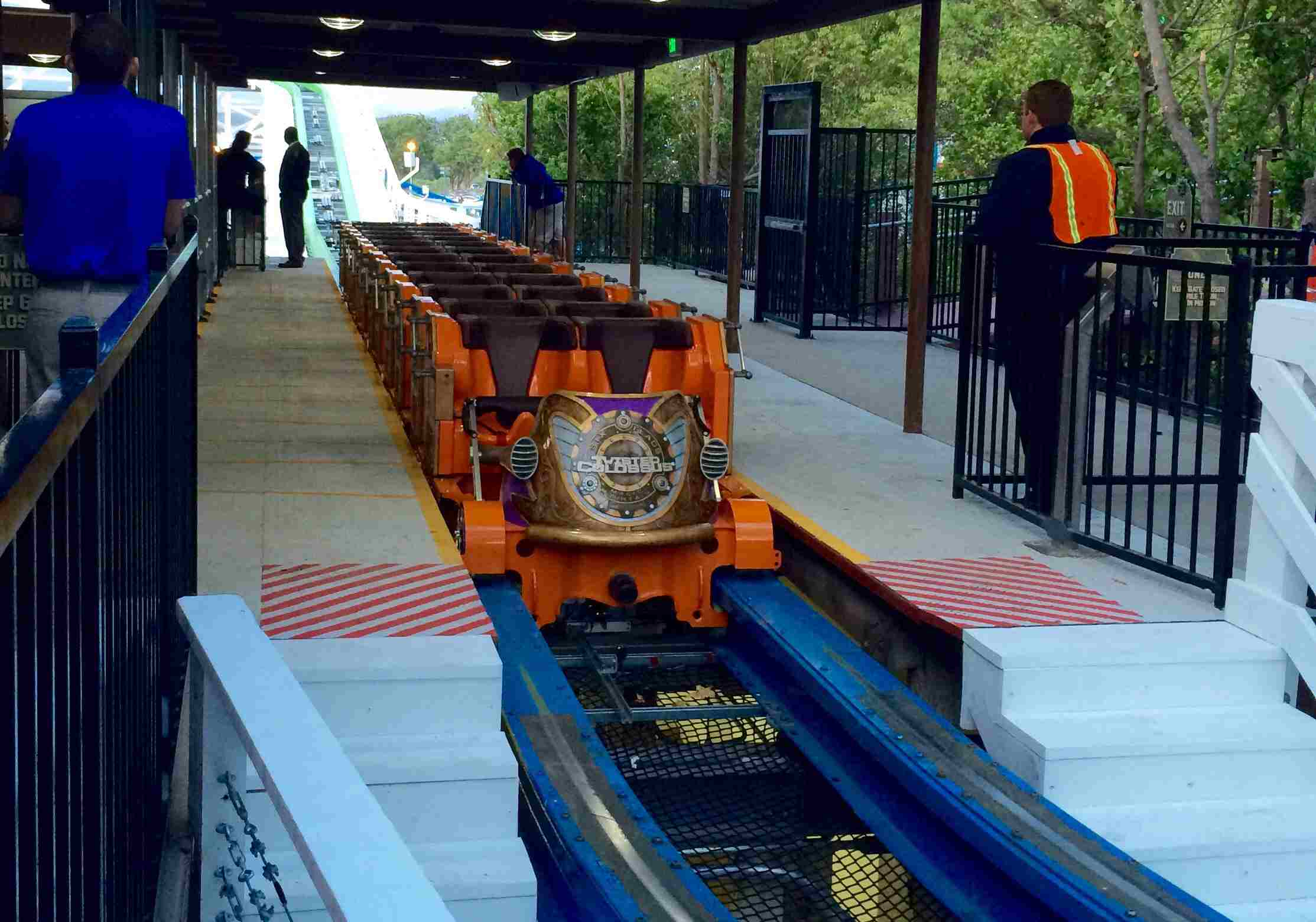 Twisted Colossus coaster car