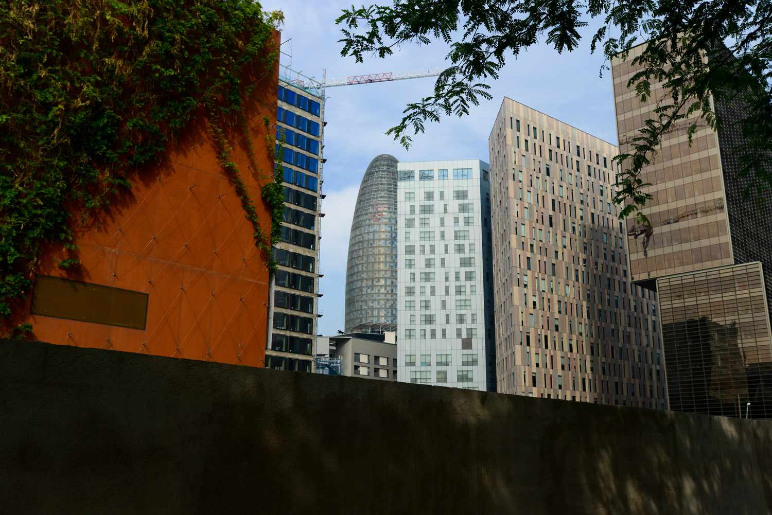 The financial district in Poblenou, Barcelona