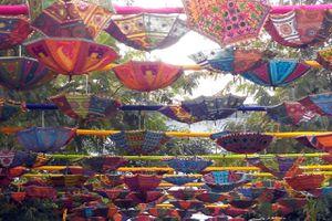 Colourful Entrance at Jaipur Literature Fest 2014