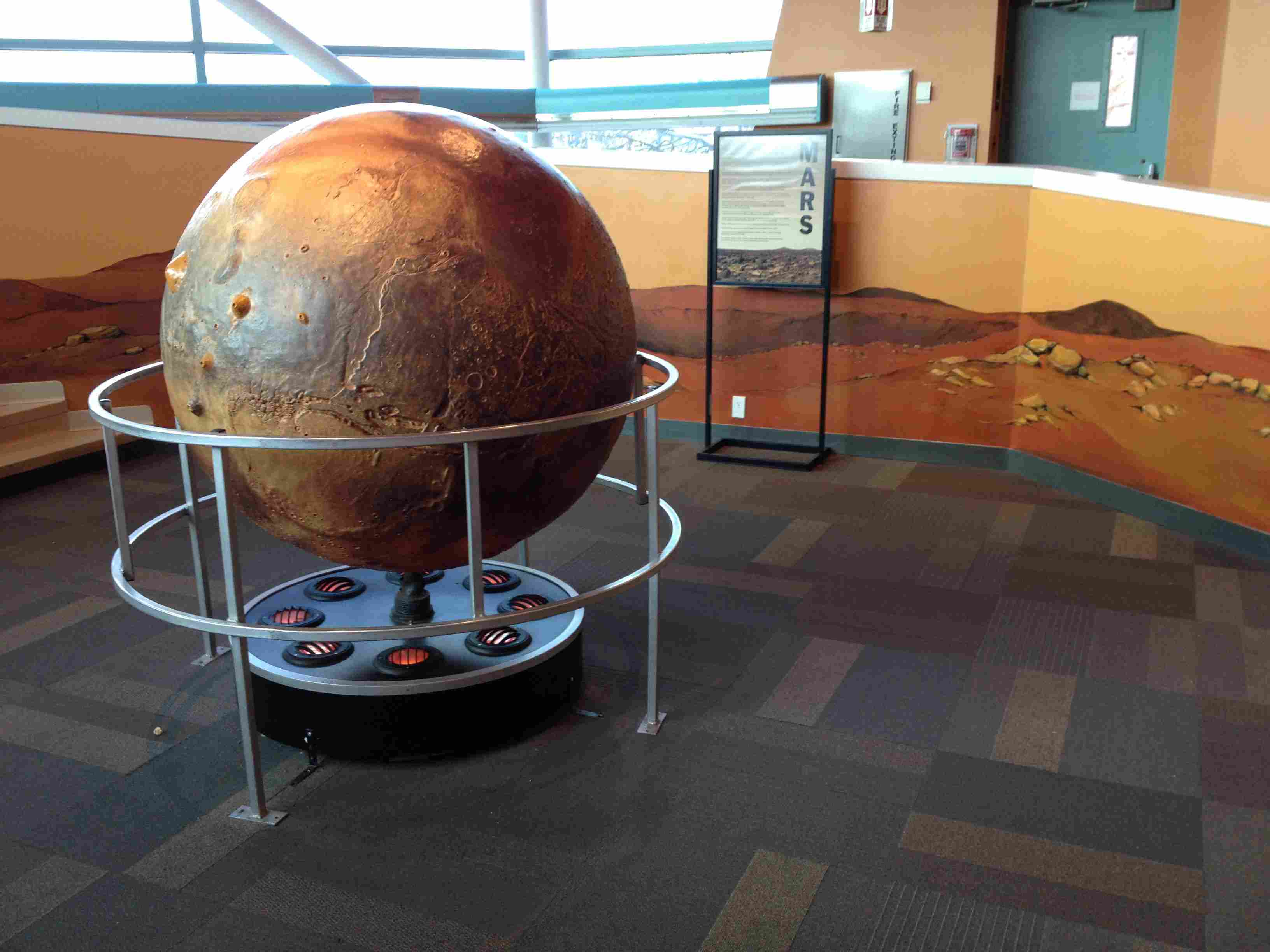 Mars Model at the St. Louis Science Center