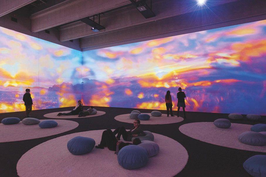 Museum of COntemporary Art light exhibition