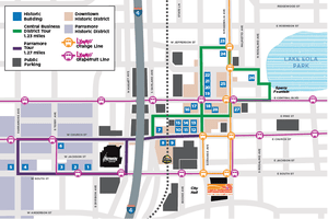 Downtown historic map