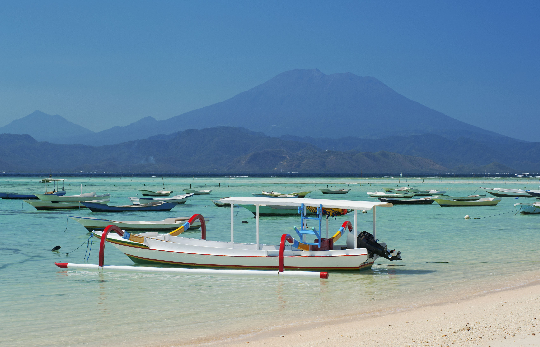 View of Bali from Nusa Lembongan