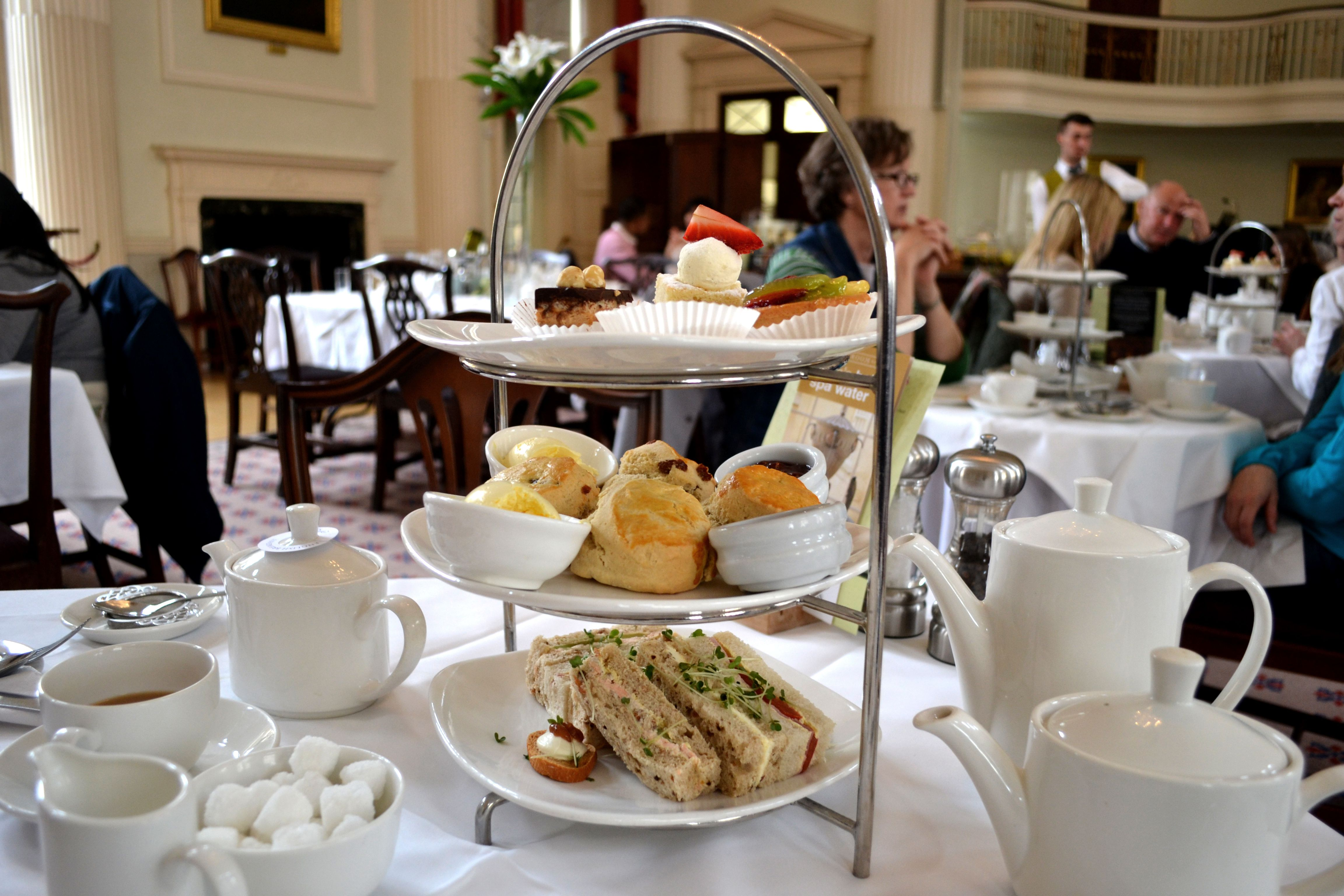 Afternoon tea in the 18th century Pump Room.