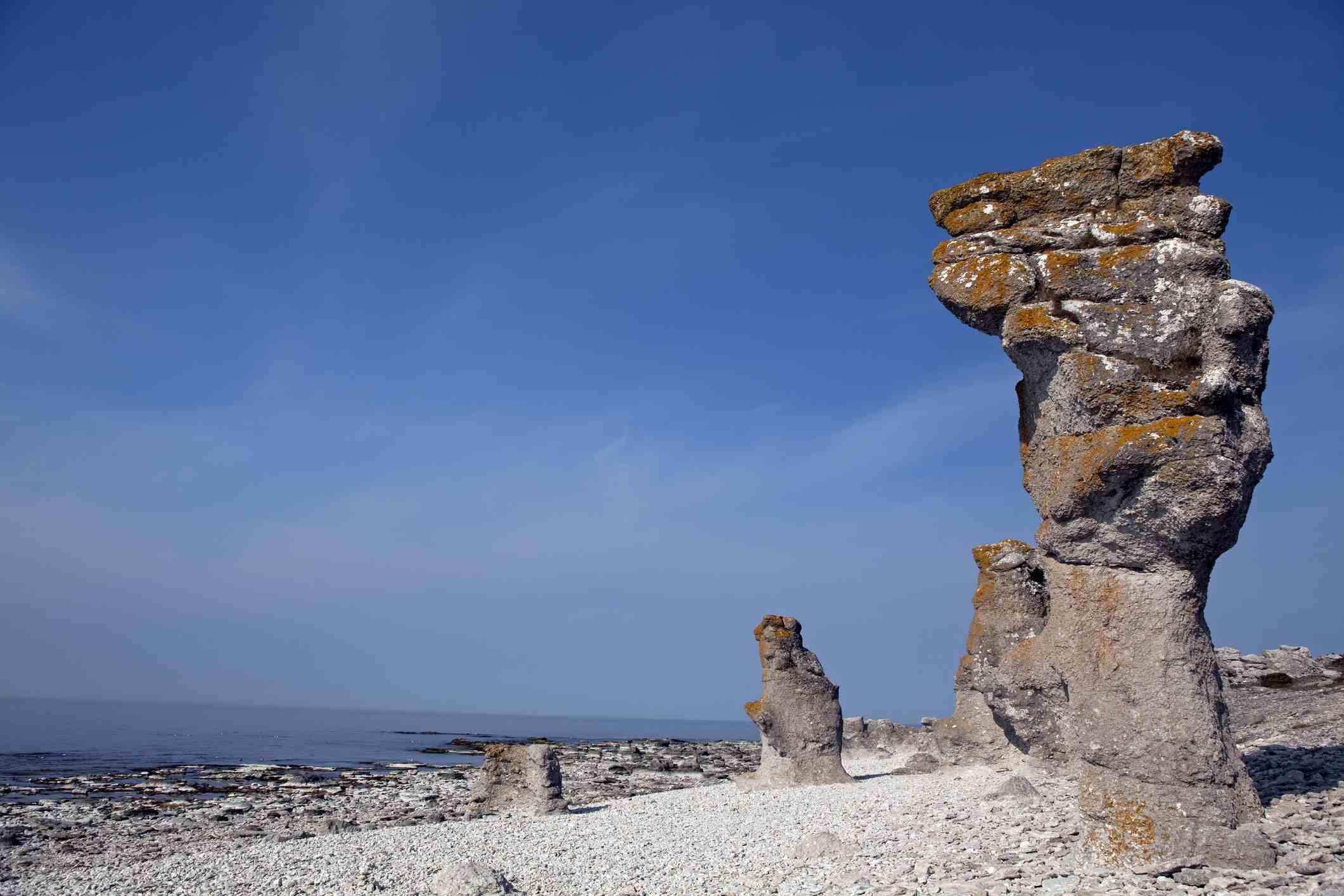 Gotland rock formations