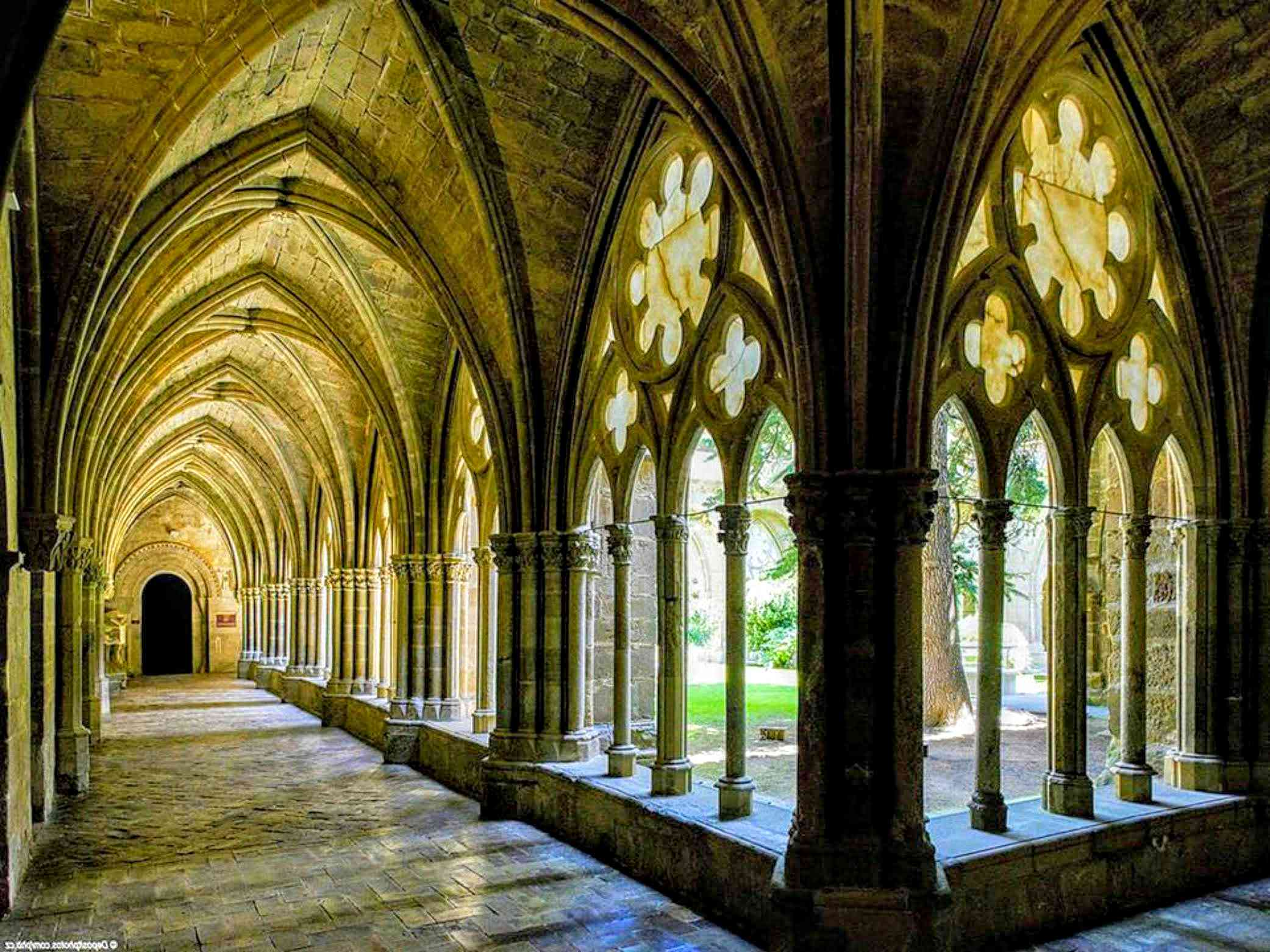 cloister of the Veruela monastery, Vera del Moncayo, Zaragoza (Spain)