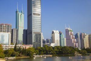 Shun Hing Square alongside Lizhi Park, Shenzhen, Guangdong, China