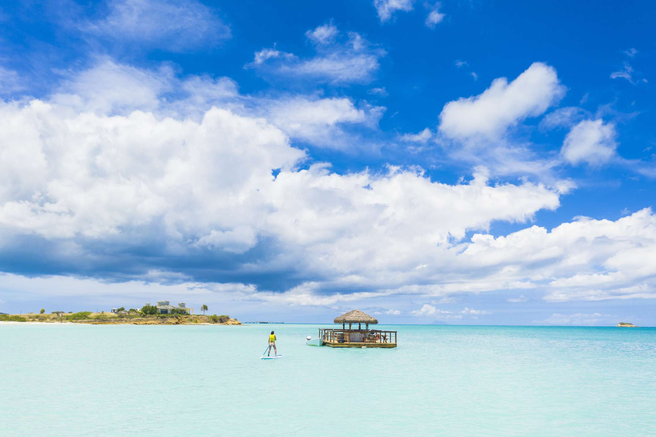 Paddle-boarding Antigua