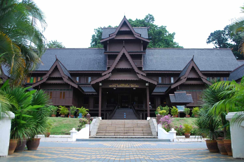 Facade of Malacca Sultanate Palace Museum