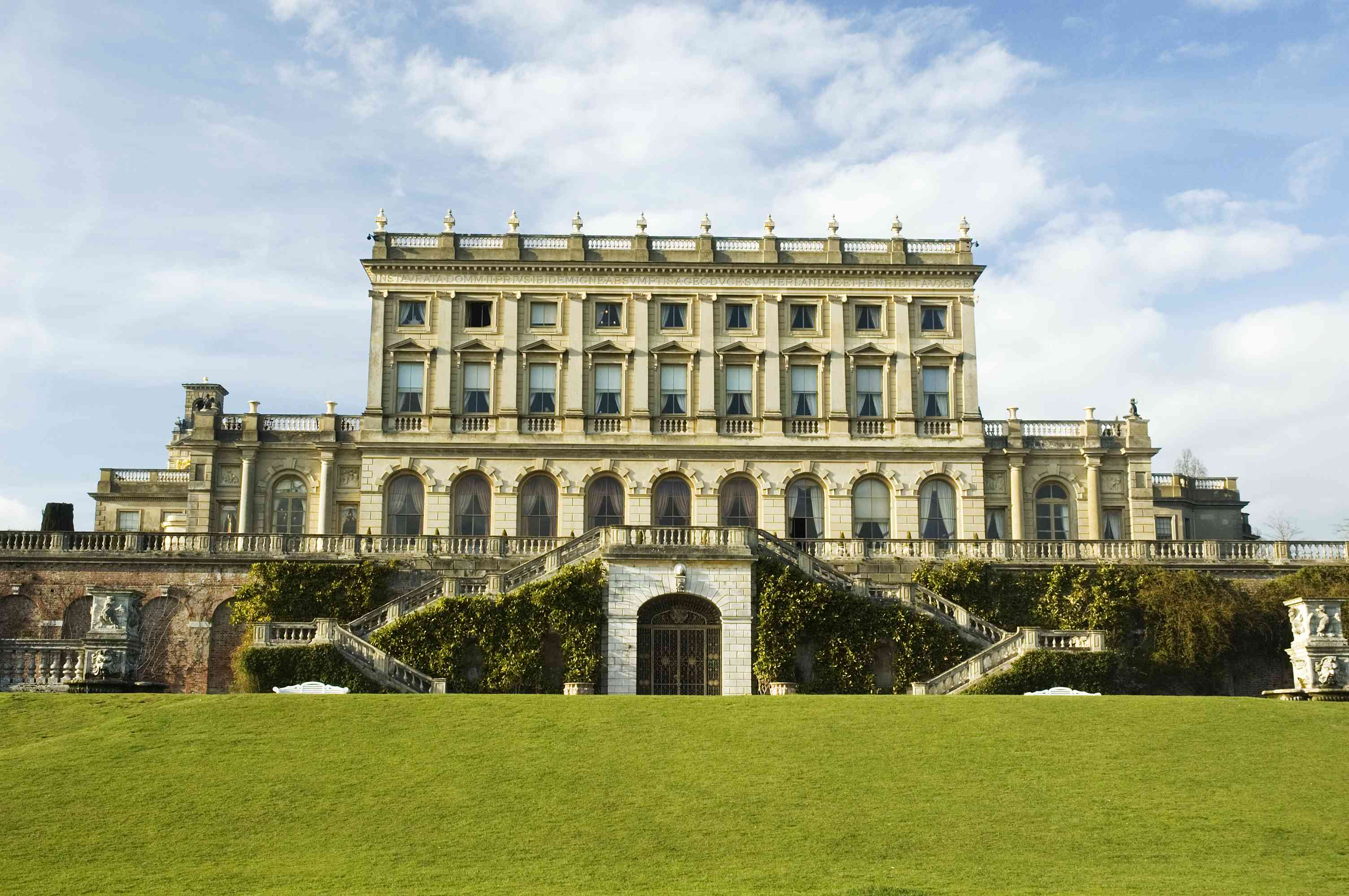 A breath taking view of Cliveden House in England