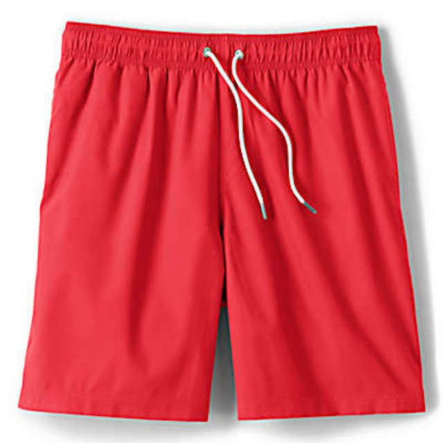 Land's End Solid Volley Swim Trunks