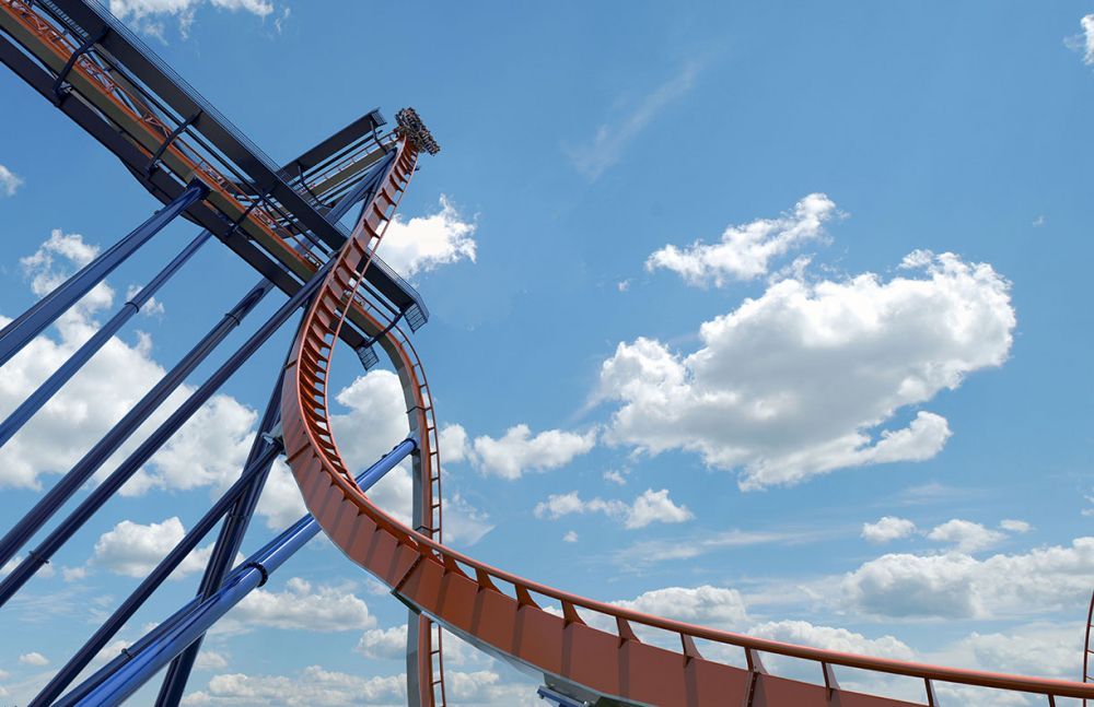 Preview of drop from ground on Cedar Point's Valravn