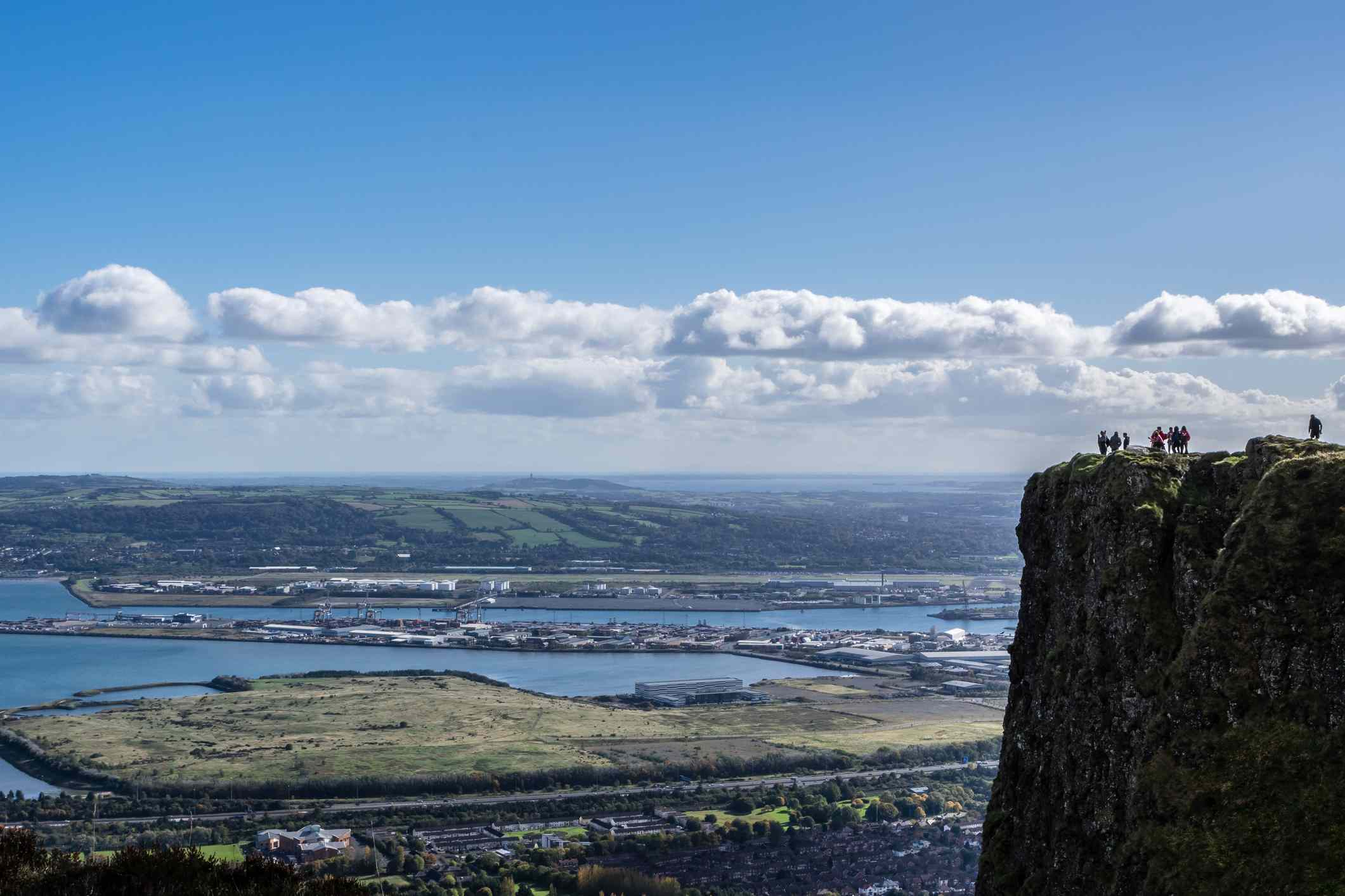 The view from the top of Cave Hill in Belfast.