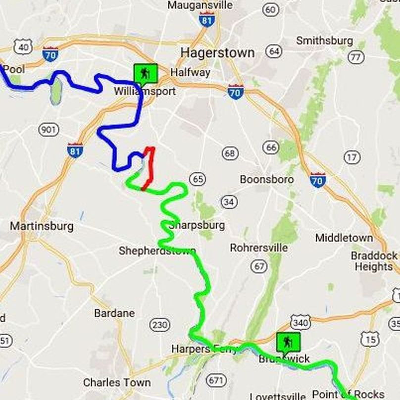 C & O C Maps and Visitor Center Locations C O Towpath Map on