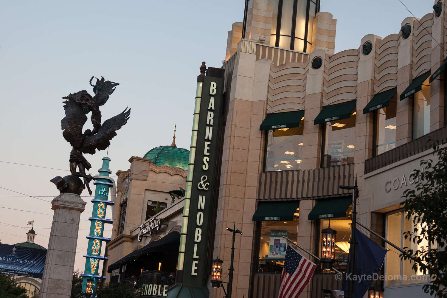 The Spirit of Los Angeles Statue at The Grove in Los Angeles