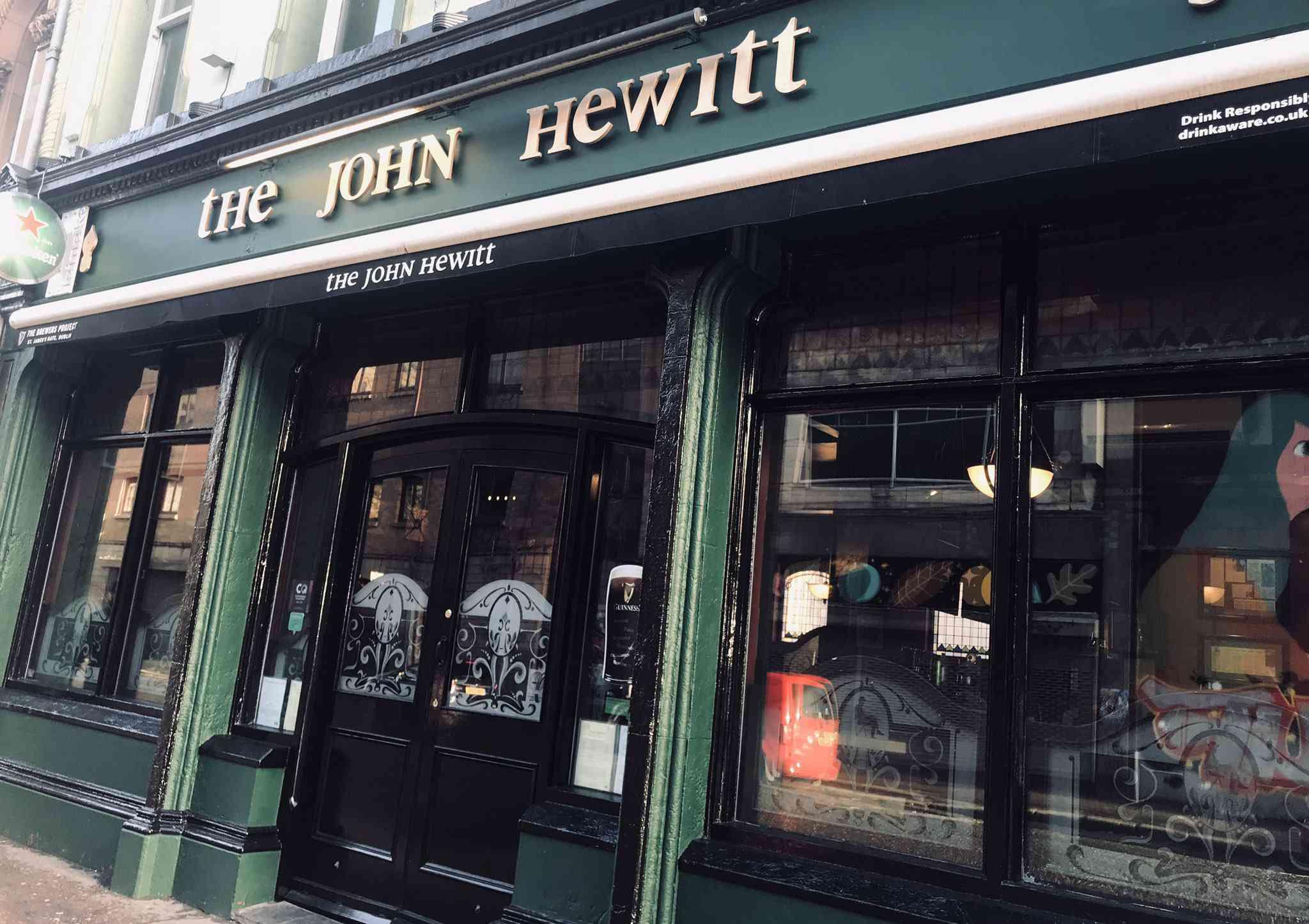exterior of Irish pub
