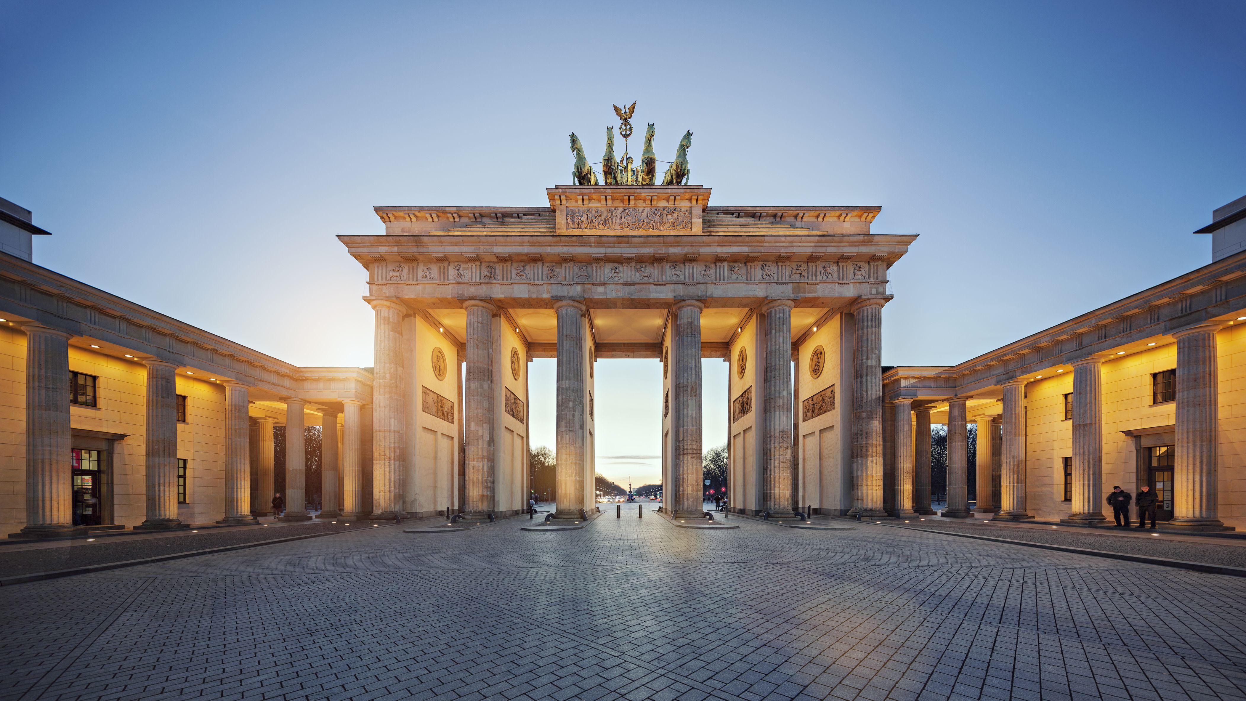 Brandenburg Gate at sunset
