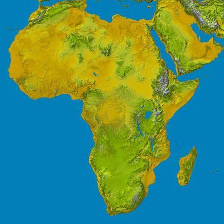 Kort Over Afrika