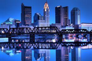 Columbus, Ohio, Skyline Reflected