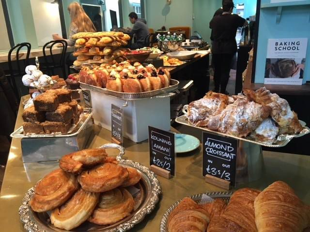 Pasteries and goods on display at Bread Ahead Bakery & School