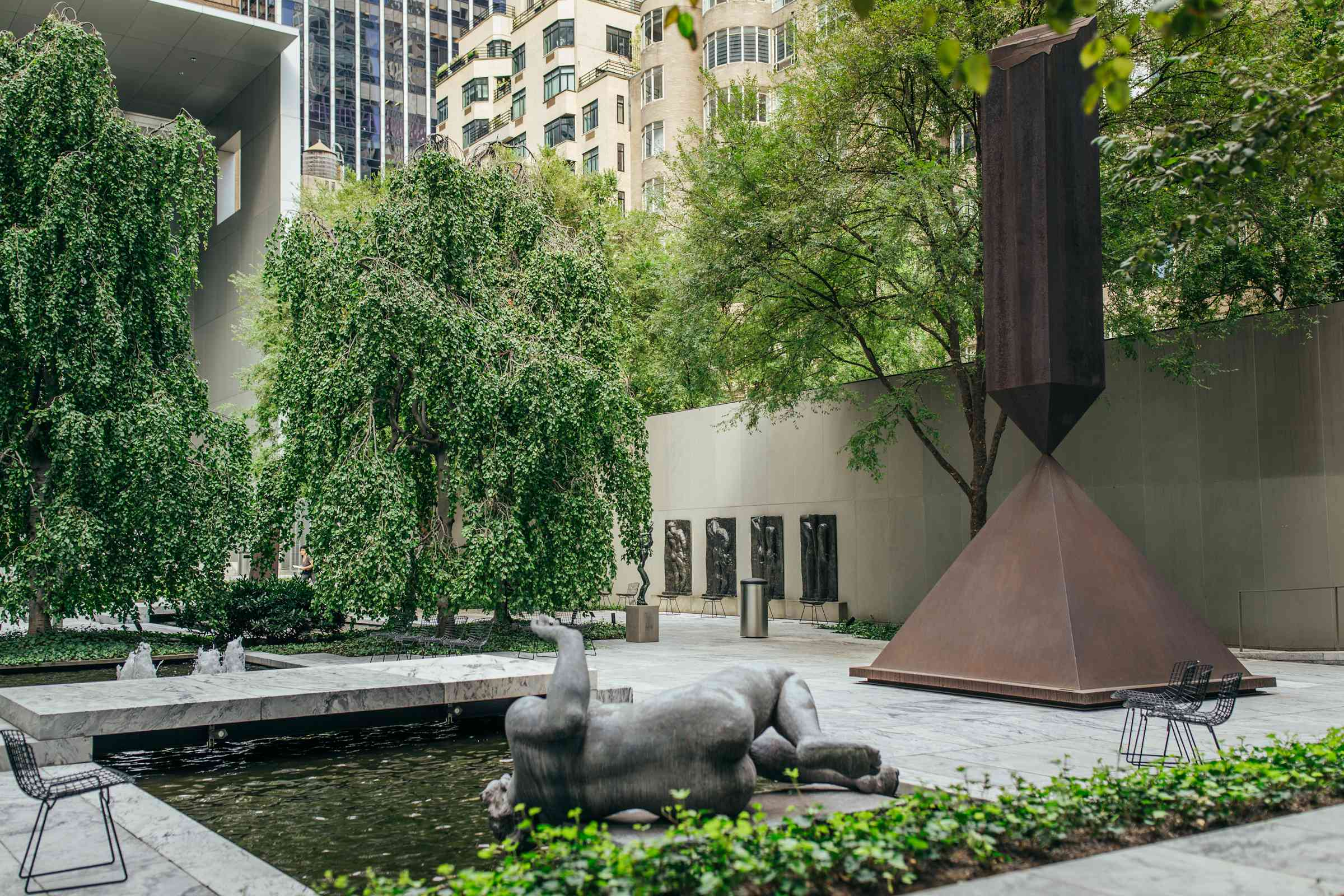 Sculpture Garden at the MoMA in NYC