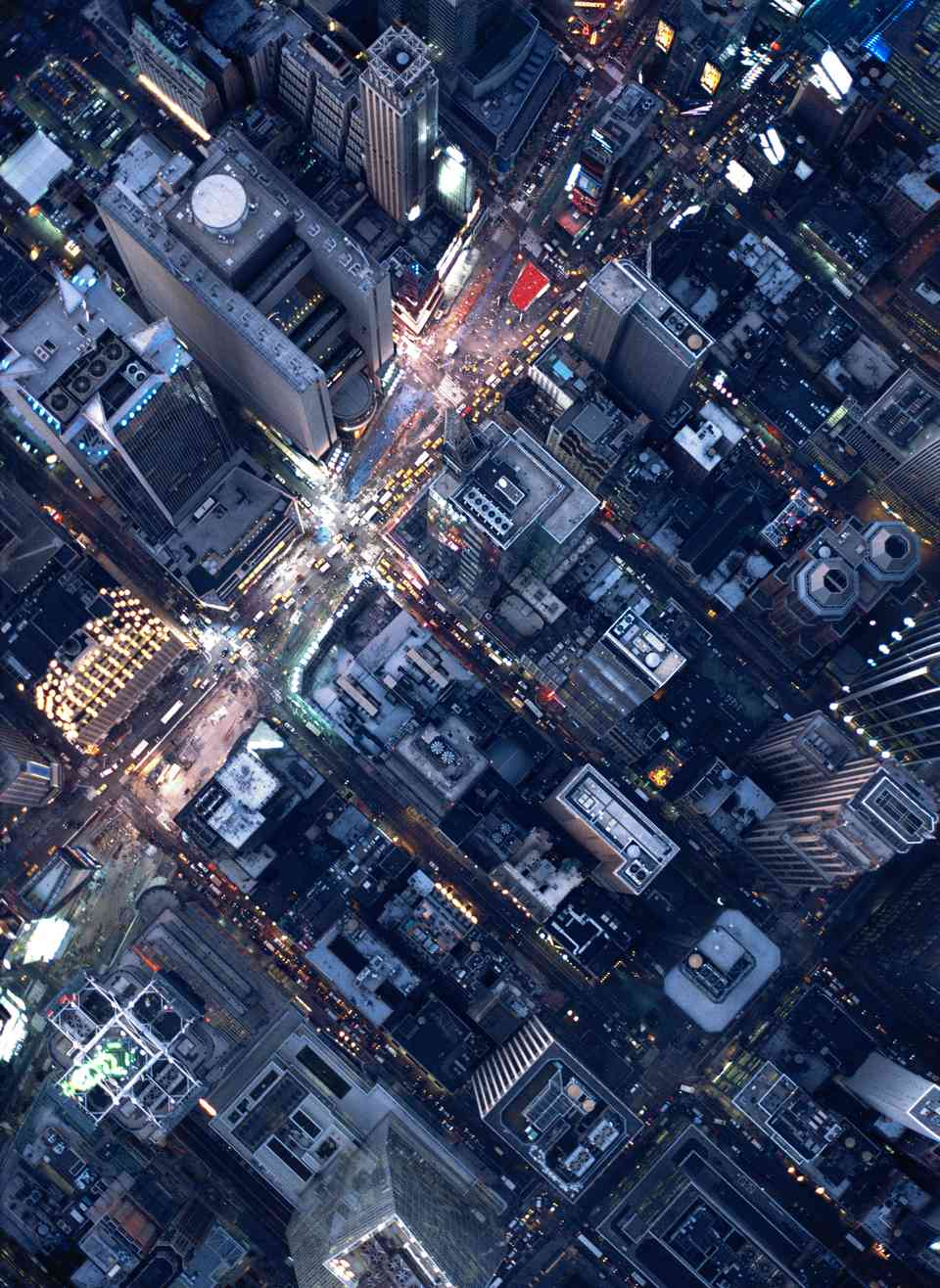 Aerial perspective of Times Square
