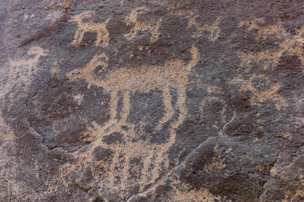 Art left on a cliff by the Hohokam people can still be seen today, in the Superstition Mountains of Arizona.