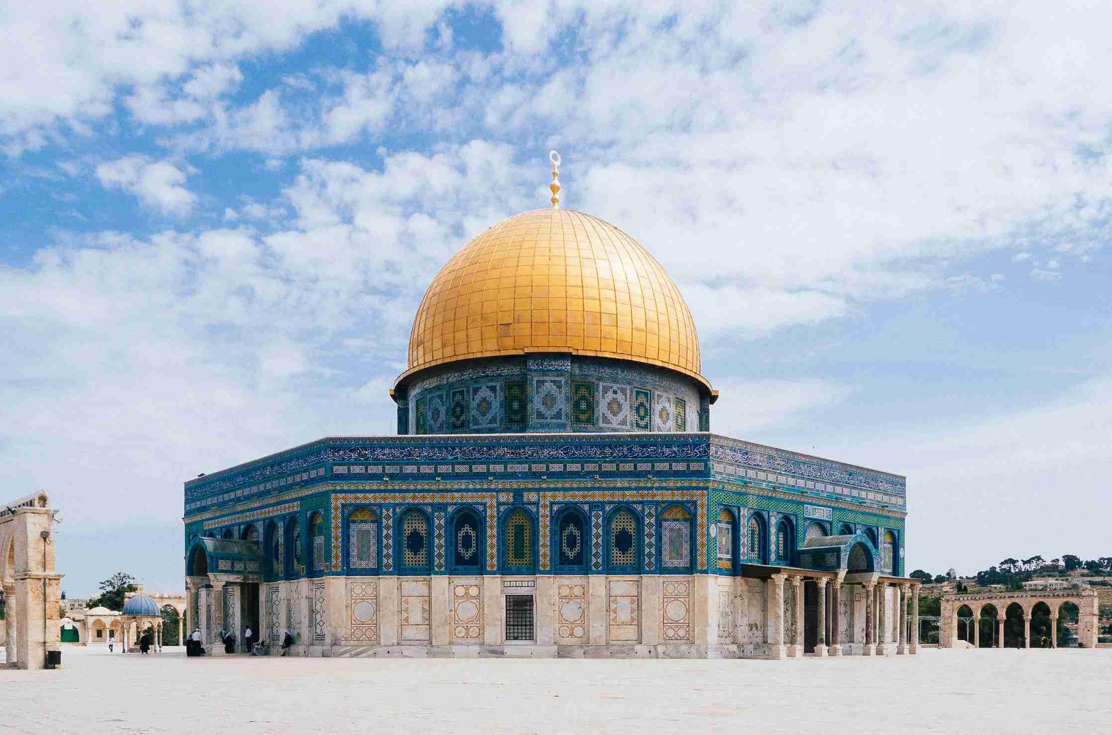 Temple of the Rock in Jerusalem.