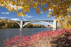 St. Paul bridge in the fall