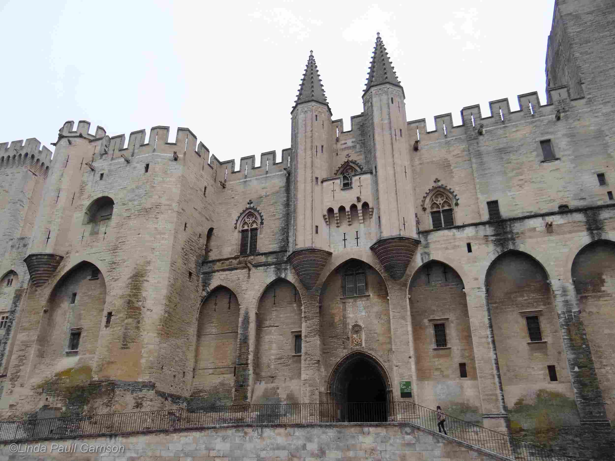 Palacio de los Papas en Aviñón, Francia