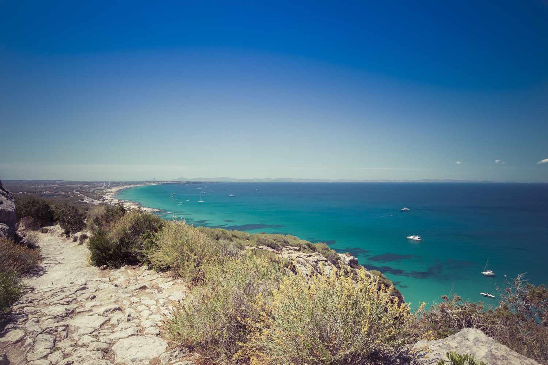 Sa Pujada path on Formentera, Balearic Islands