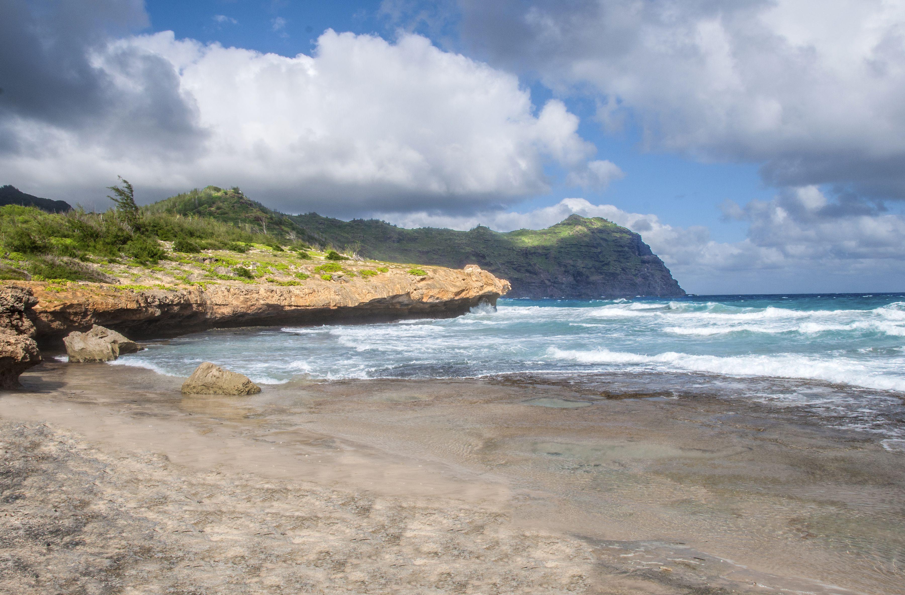 Māhāʻulepū Beach is a beach on the southeast coast of the Hawaiian island of Kauai