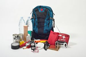 emergency backpack and supplies