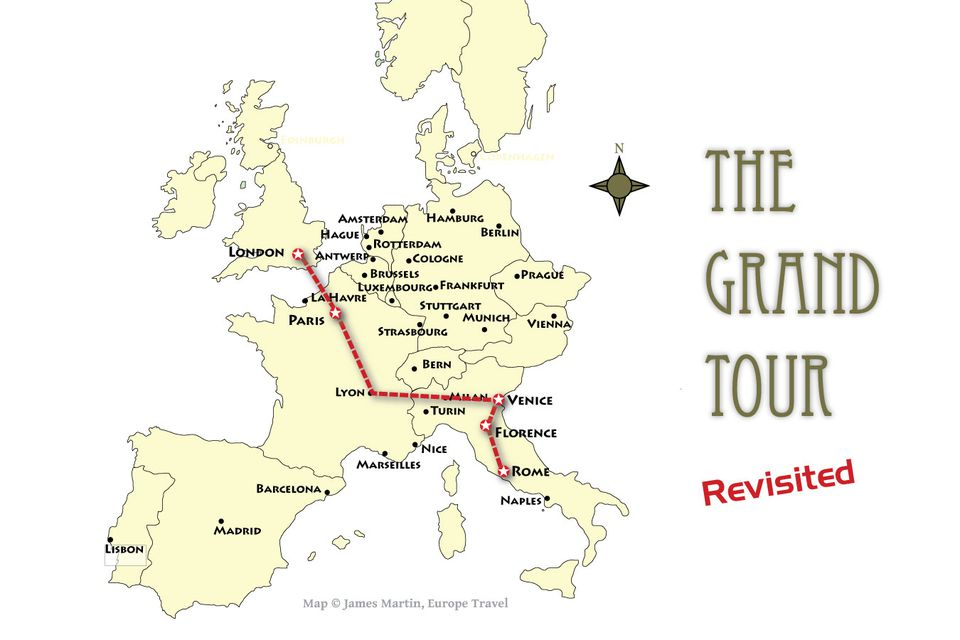 grand tour of europe map