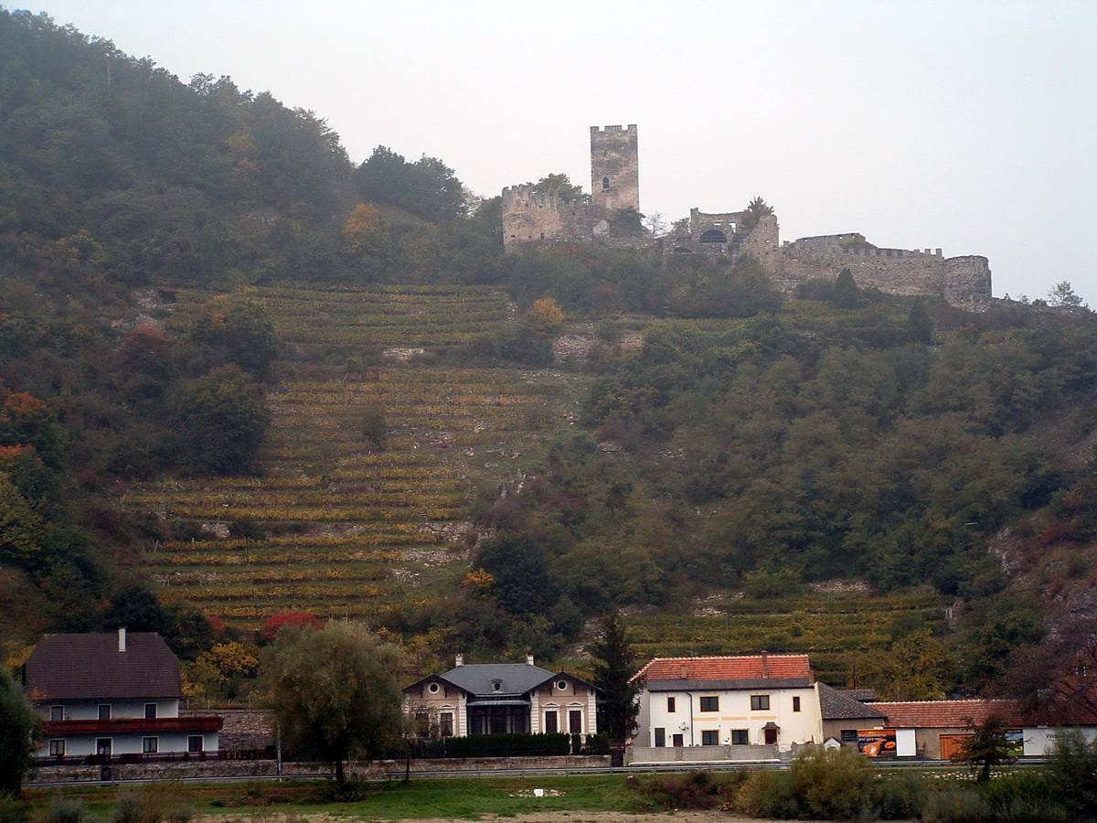 Spitz and Hinderhaus Castle in the Wachau Valley of Austria